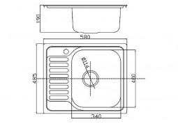Кухонная мойка Fabiano 58x48 Микродекор цена