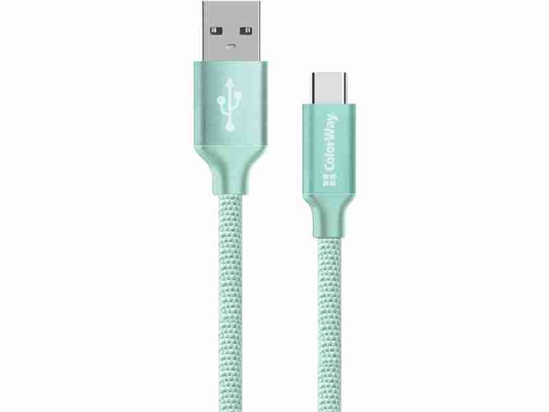 Кабель ColorWay USB - Type-C 2.1А 1м Mint (CW-CBUC003-MT)