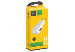 Зарядное устройство Florence 1USB 1A + Lightning cable White (FW-1U010W-L) в интернет-магазине