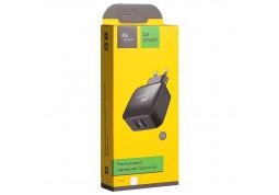 Зарядное устройство Florence (2xUSB 3.1A) Black (FW-2U030B-M) + кабель MicroUSB фото