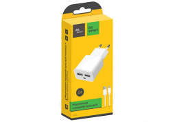 Зарядное устройство Florence (2xUSB 3.1A) White (FW-2U030W-L) + кабель Lightning дешево