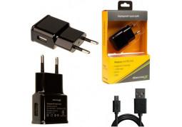 Зарядное устройство Grand-X (1xUSB 1A) Black (CH-765UMB) + microUSB кабель