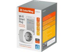 Умная розетка ColorWay 16A/3680W одинарная (CW-SP1A-PTM) отзывы