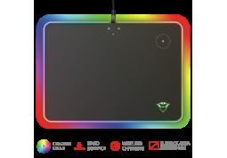 Коврик RGB для мыши с беспроводным зарядным устройством Trust GXT750 Qlide Mousepad Qi 5W