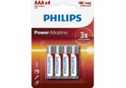 Батарейка Philips Power Alkaline AAA BLI 4 LR03P4B/10