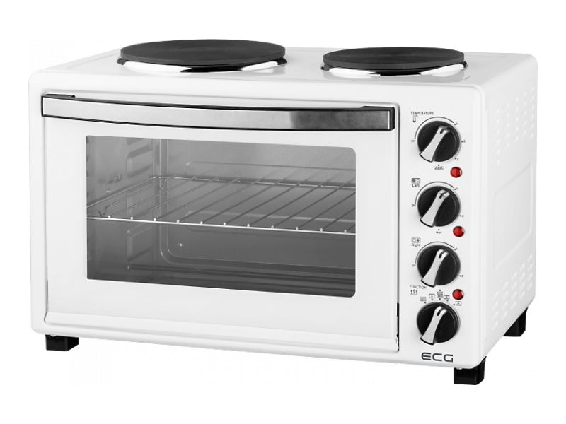 Настольная плита с духовкой ECG ET 3032 White