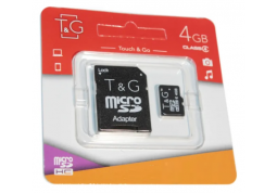 Карта памяти micro SDHC 4GB T&G Class 4 + adapter (TG-4GBSDCL4-01)