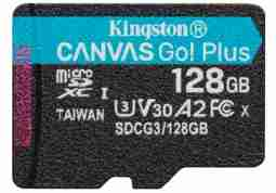 Карта памяти Kingston 128GB microSDXC C10 UHS-I U3 A2 R170/W90MB/s Canvas Go Plus SDCG3/128GBSP