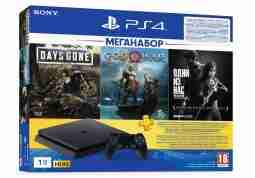 Консоль Sony PlayStation 4 Slim 1TB (Days Gone + God Of War + The Last of Us + PSPlus 3М) (9382102)