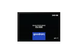 "Накопитель GOODRAM SSD 240GB  CL100 GEN.3 2.5"" SATAIII 3D TLC (SSDPR-CL100-240-G3)"
