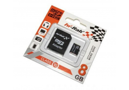 Карта памяти Hi-Rali MicroSDHC 8GB Class 10 + SD-adapter (HI-8GBSDCL10-01)