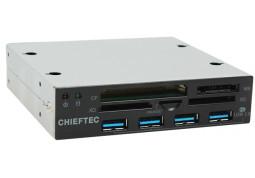 Картридер/USB-хаб Chieftec CRD-801H
