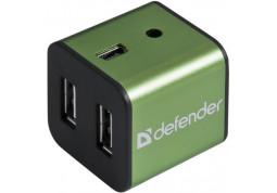 Картридер/USB-хаб Defender Quadro Iron