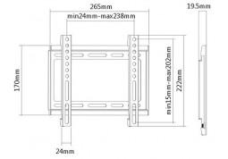 Настенное крепление Brateck KL22-22F стоимость