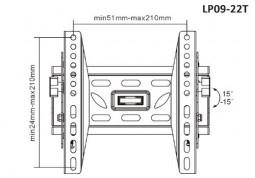 Настенное крепление Brateck LP09-22T - Интернет-магазин Denika