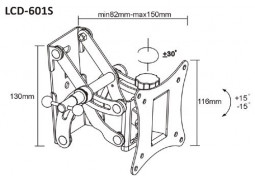 Настенное крепление Brateck LCD 601S цена