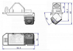 Камера заднего вида iDial CCD-9623 фото